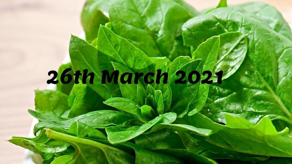 National Spinach Day 2021 Date
