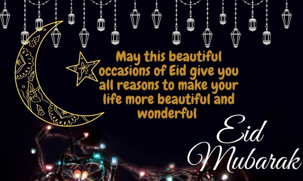 Eid Mubarak Wishes Images Quotes In english