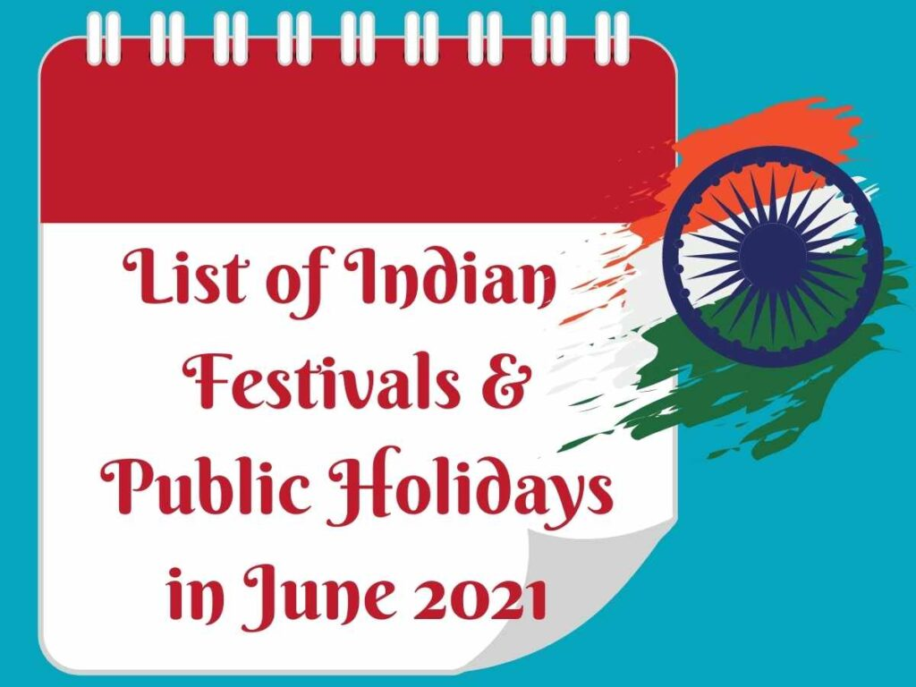 List of Indian Festivals in June 2021