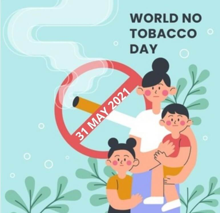 World No Tobacco Day 2021 images with Messages
